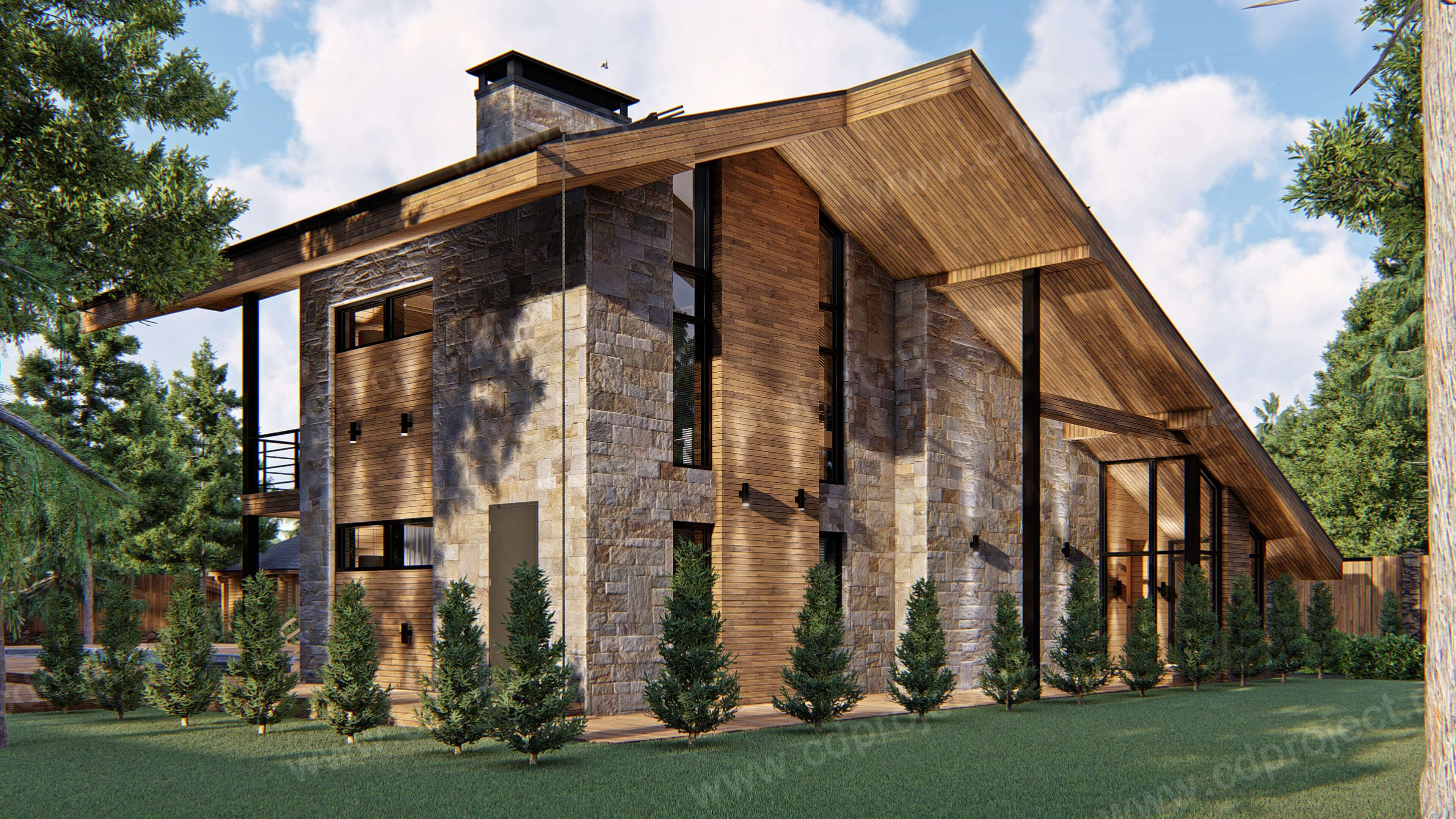 Оптимальные недорогие готовые проекты каркасных домов шале на любойвкус. проект каркасный дом шале