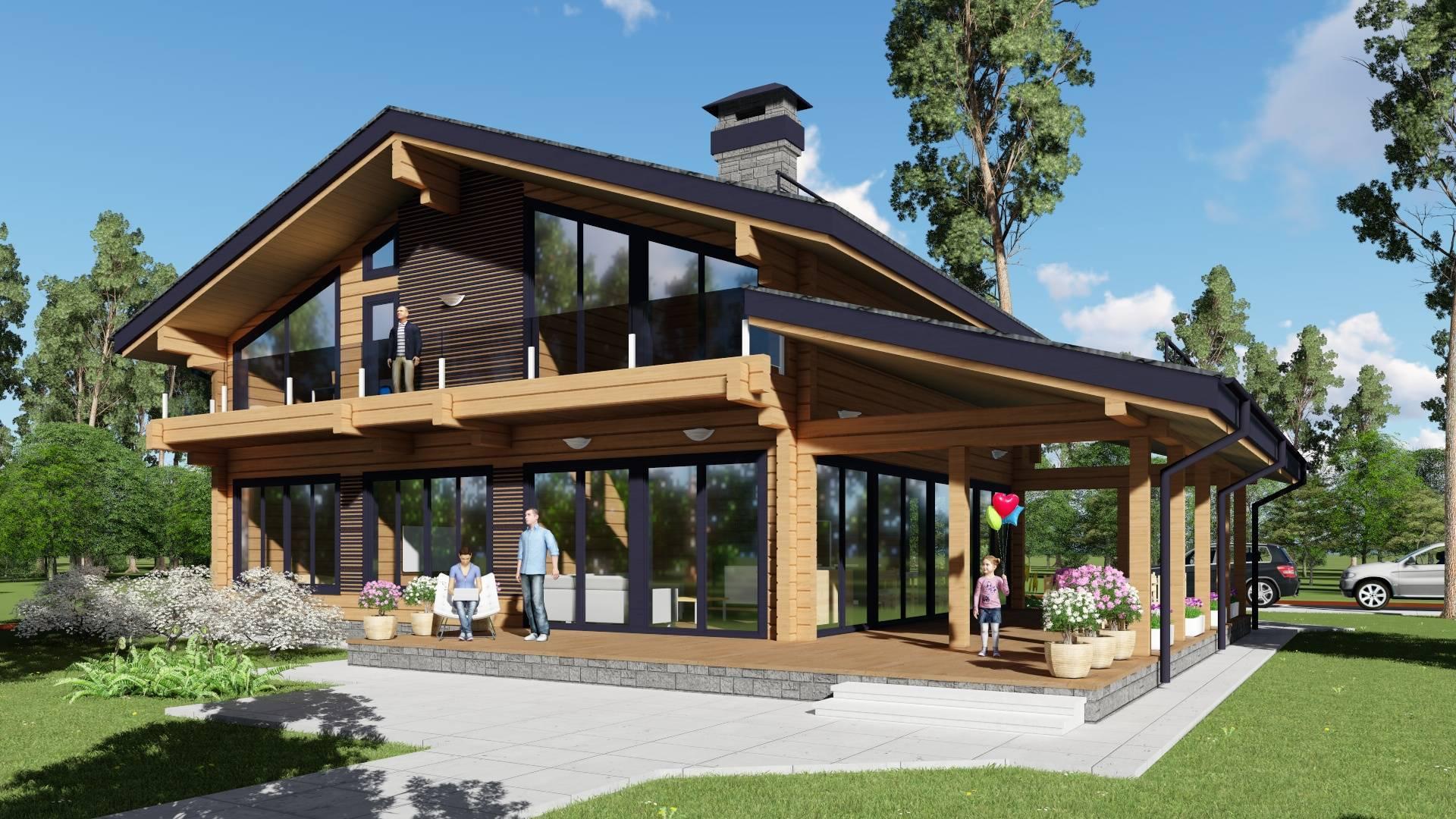 Каркасный дом шале и преимущества современных проектов