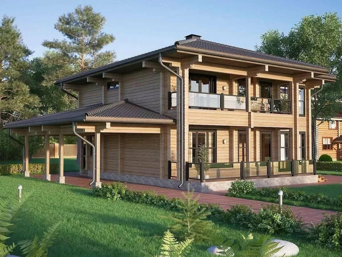 Двухэтажный дом - удачные проекты для частных жилых домов и коттеджей (130 фото)