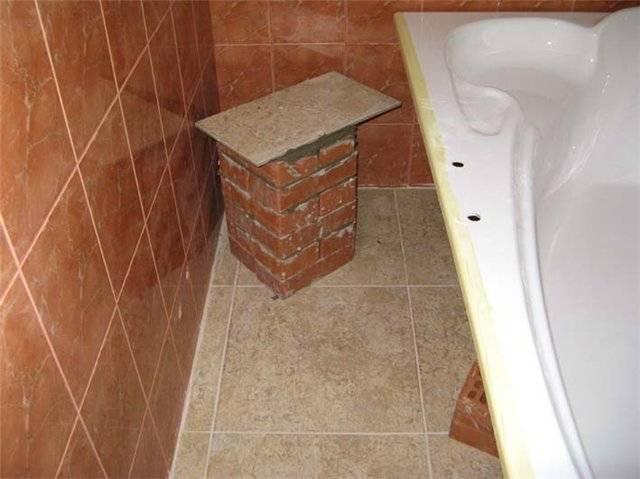 Как установить акриловую ванну: пошаговая инструкция