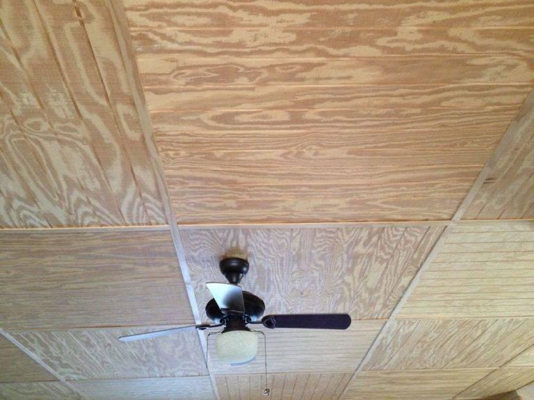 Потолок из фанеры (43 фото): отделка и обшивка потолочного покрытия