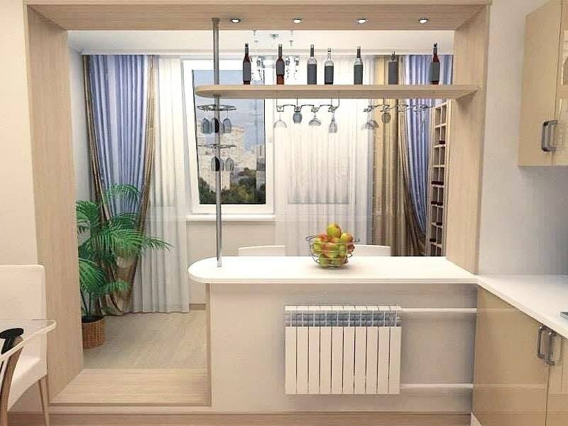 Кухня, совмещенная с балконом: 70 фото идей присоединения балкона, как соединить и как оформить