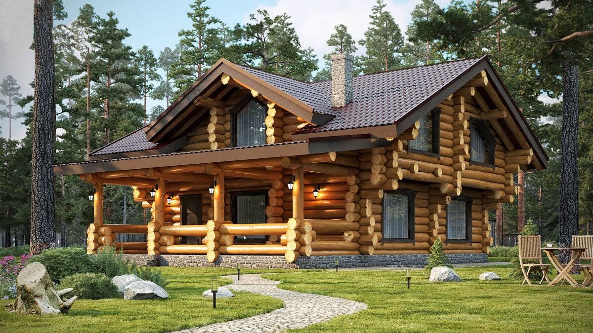 Дома из оцилиндрованного бревна и цена постройки деревянного сруба