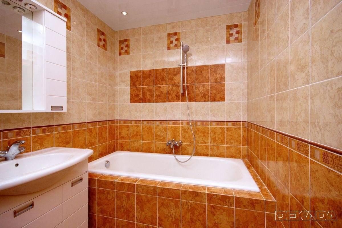 Дизайн ванной комнаты с облицовкой плиткой: 75 идей оформления
