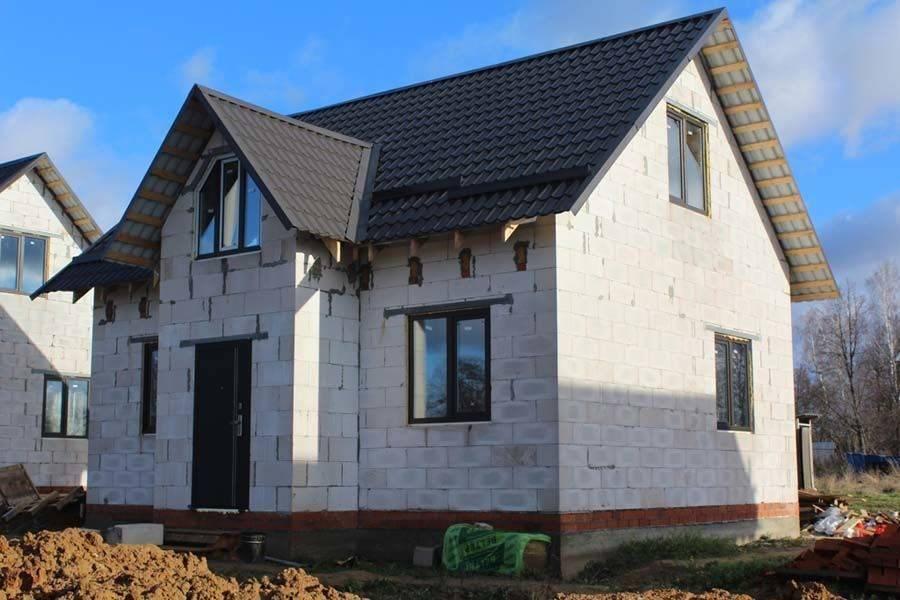 Строительство дома из газобетона своими руками поэтапно: инструкция, схемы (фото и видео)