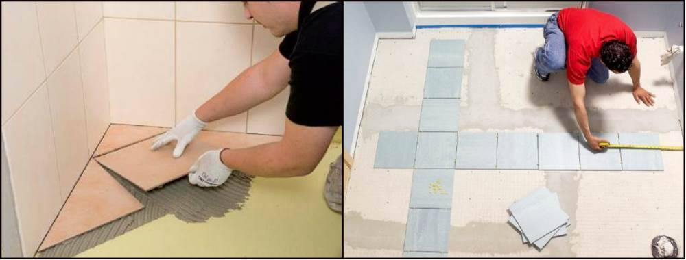 Как клеить плитку на плитку и чем лучше приклеить?