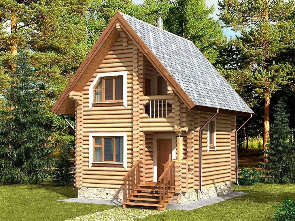Проекты деревянных домов с мансардой (33 фото): особенности конструкции из дерева, коттеджи из бревна с эркером
