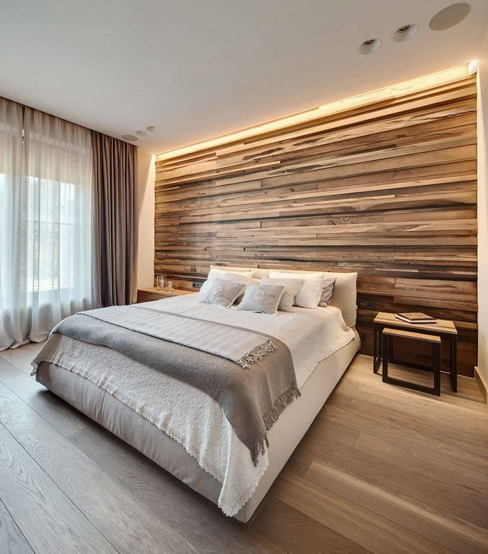 Ламинат на стене в интерьере: идеи, фото дизайна комнат