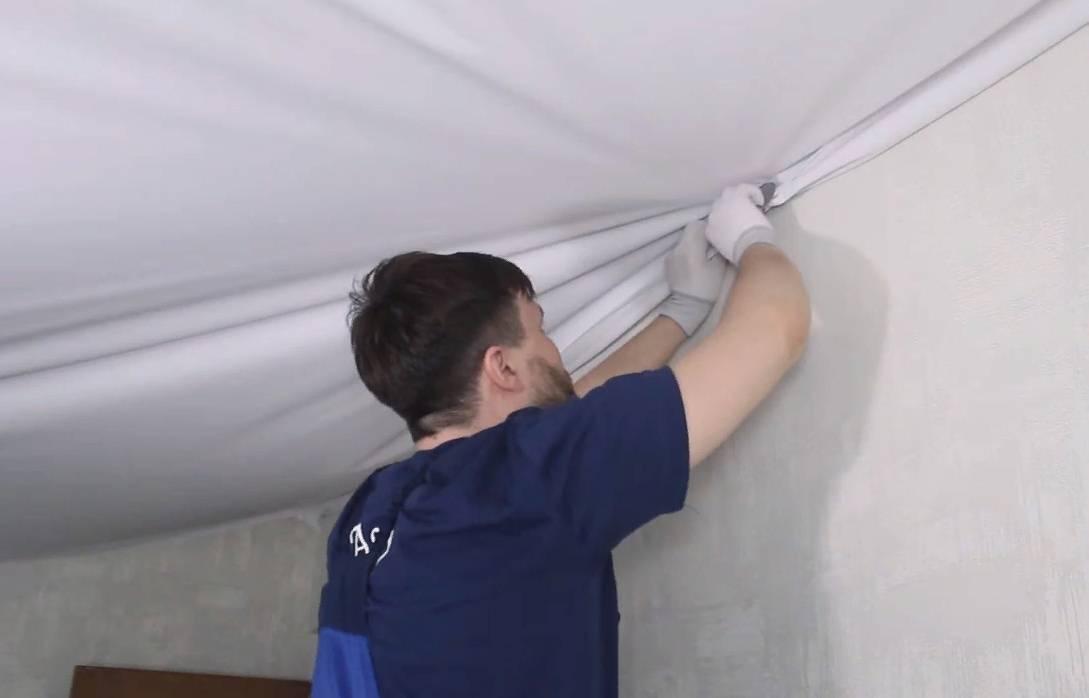 Натяжные потолки без нагрева своими руками видео за и против