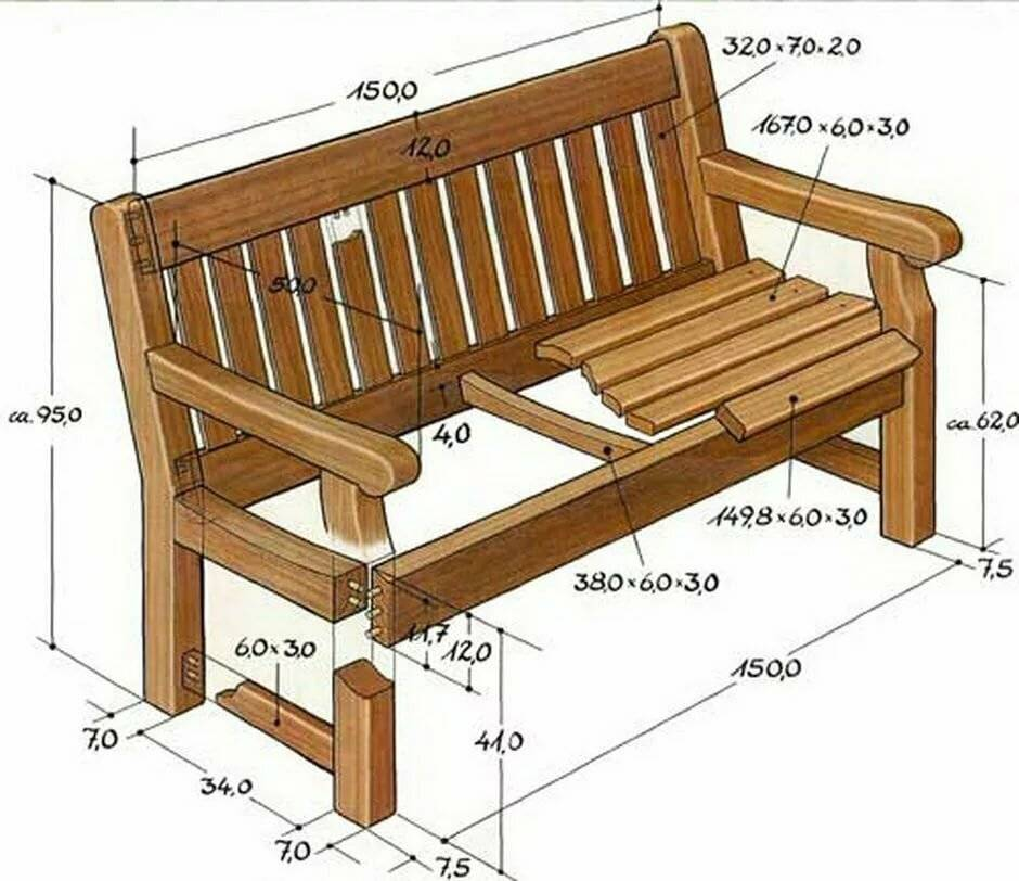 Лавочка своими руками: лучшие варианты и формы для деревянных и металлических скамеек