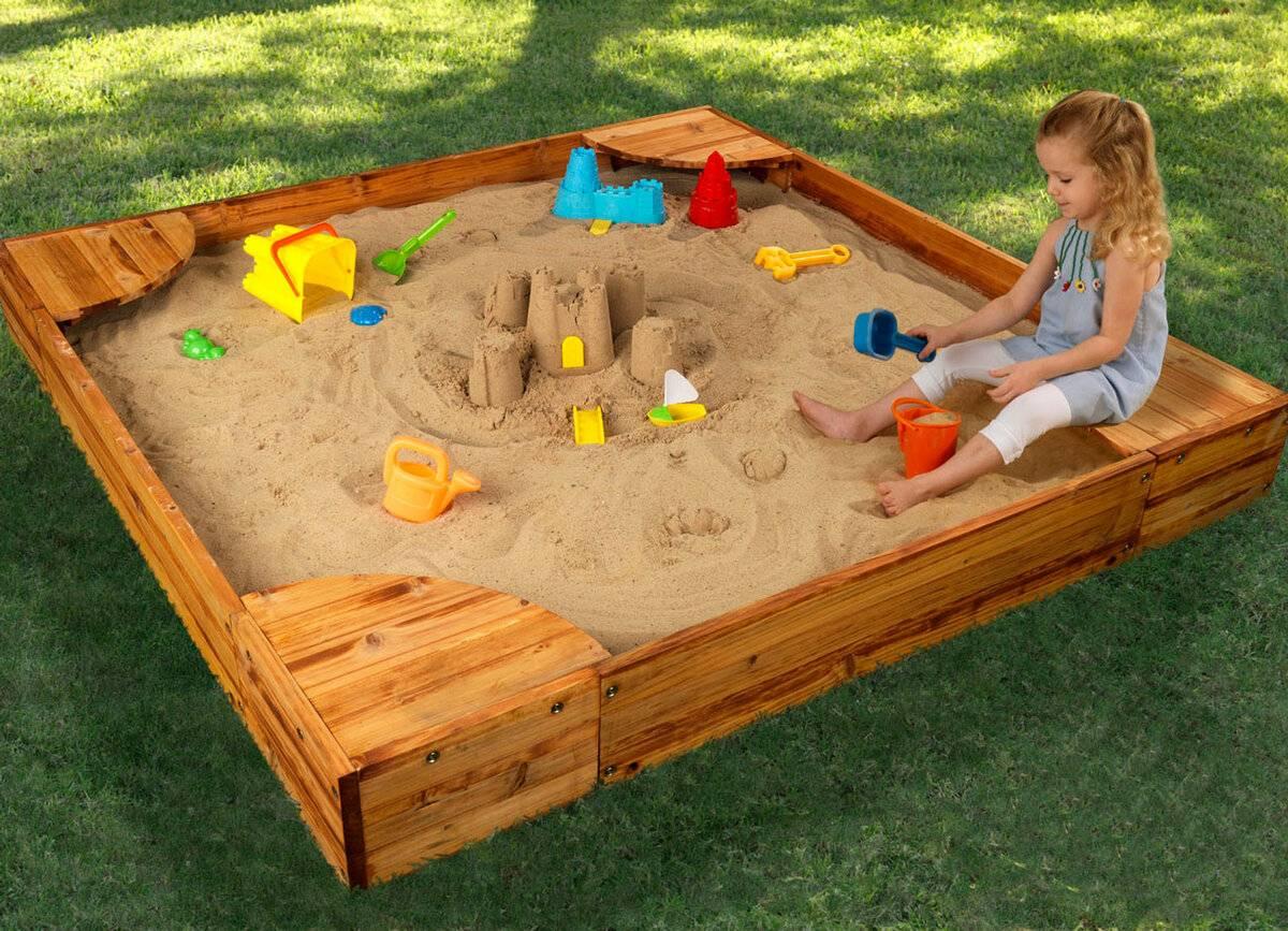 Делаем песочницу с крышкой на участке самостоятельно