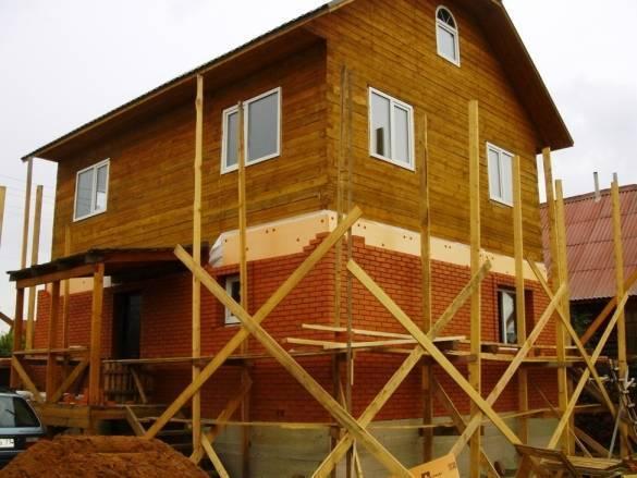 Как правильно обложить деревянный дом кирпичом - всё о кирпиче