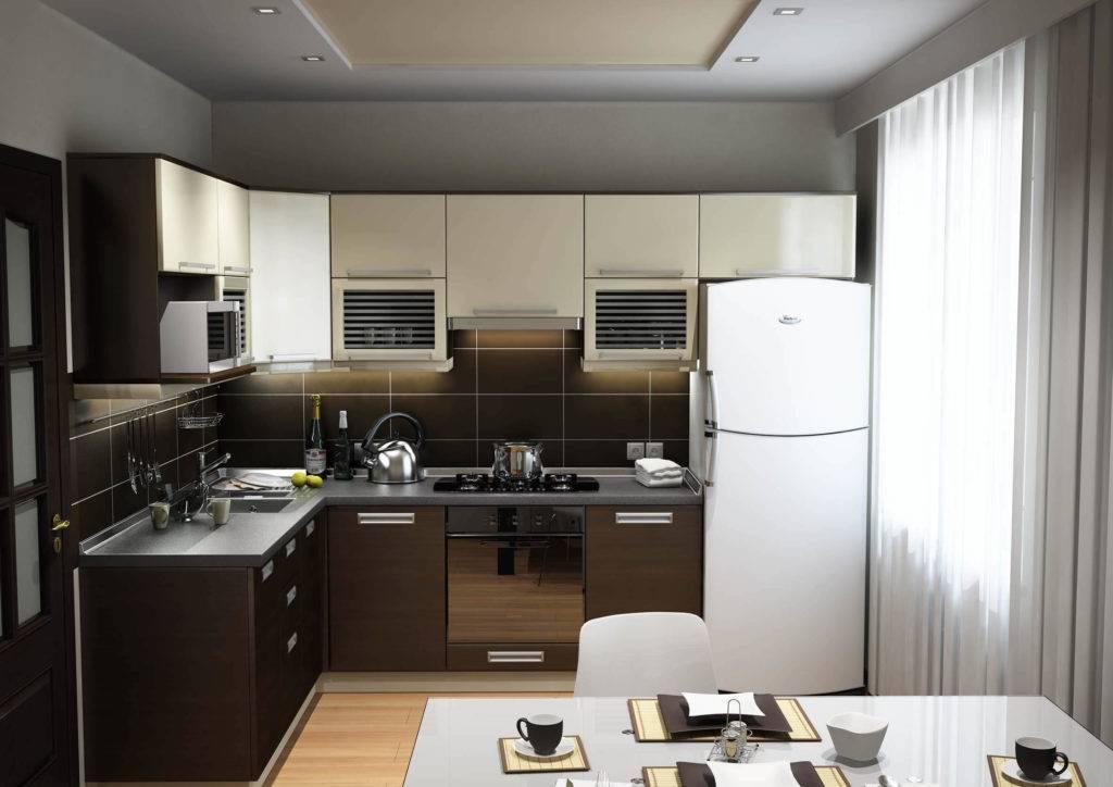 Кухня 9 кв м: дизайн проект, обустройство и планировка: интересные идеи дизайна помещения