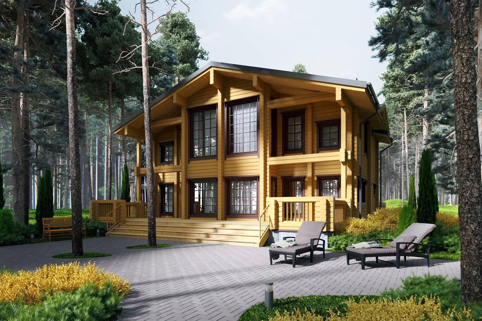 Дома из клееного бруса - строительство и проекты