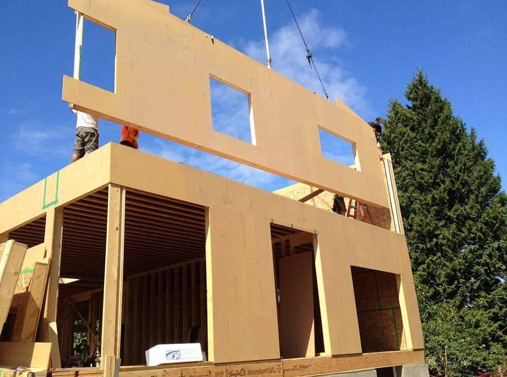 Каркасно-панельная технология строительства: фото каркасно-панельных домов и конструкции каркасно-панельных стен