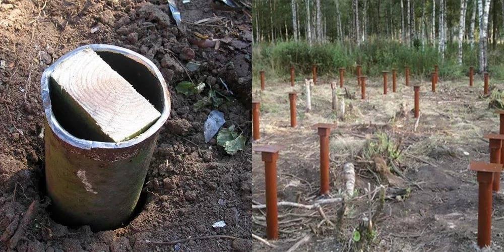Фундамент из металлических труб - делаем самостоятельно