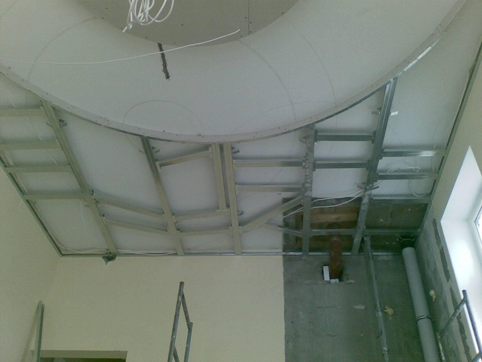 Потолок из гипсокартона своими руками (122 фото): пошаговая инструкция монтажа, как сделать подвесную конструкцию