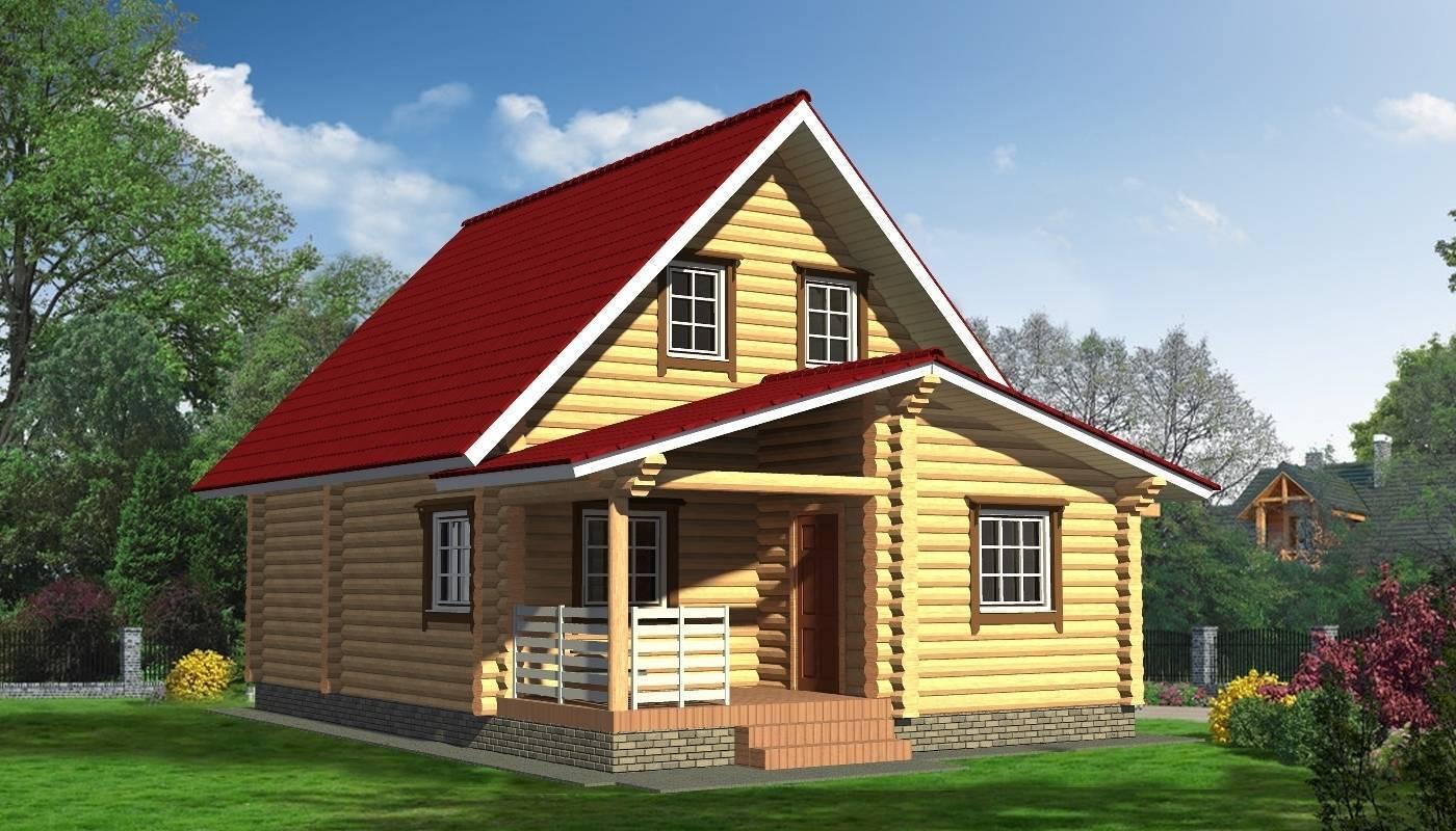 Бревенчатый дом с мансардой | мансарды — жизнь под крышей
