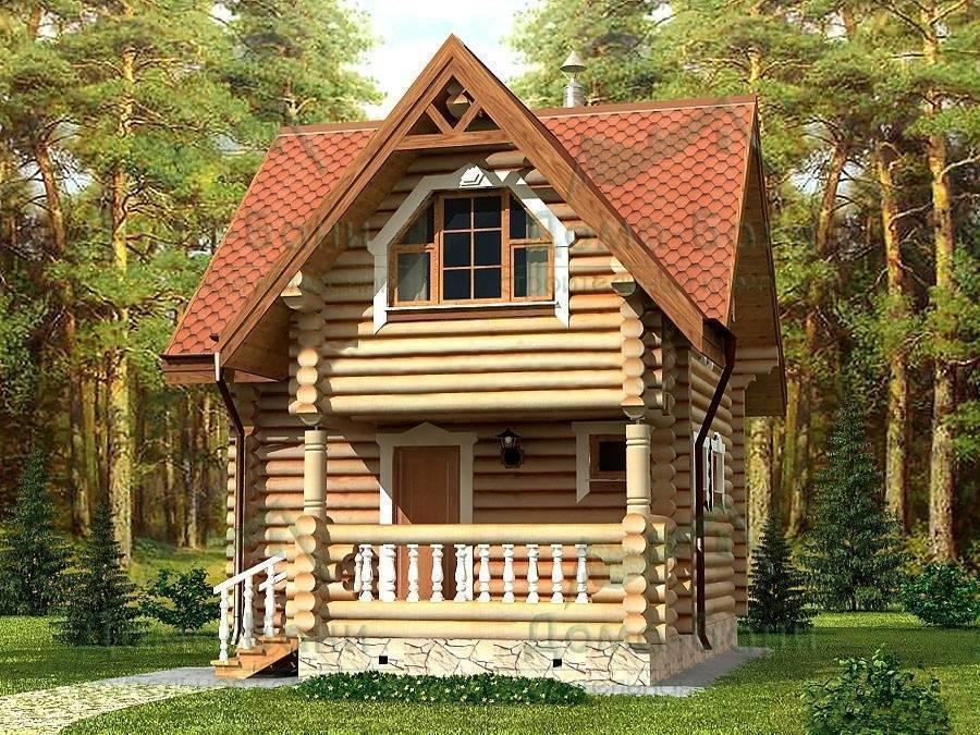 Дома из бревна 6x6 с мансардой в москве: проекты для строительства с фото и ценами