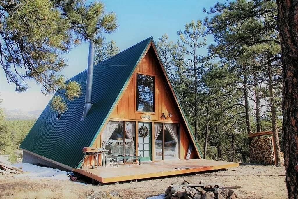 А образный дом шалаш для постоянного проживания - все о строительстве и инструментах