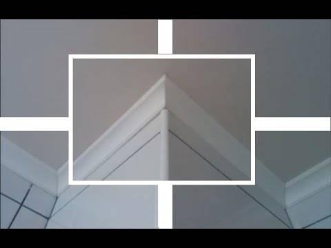 Как соединить правильно и как стыковать потолочный плинтус своими руками: фото и видео-инструкция
