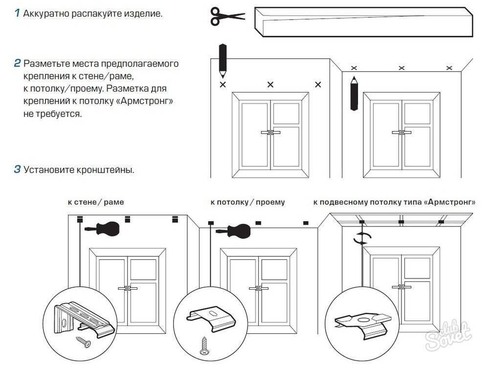 Как установить жалюзи горизонтальные на пластиковые окна (61 фото): как повесить на потолок, монтаж на стену и створу без сверления