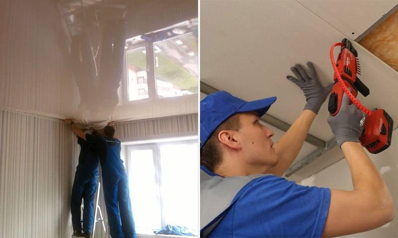 Какой потолок лучше гипсокартон или натяжной: что дешевле, преимущества и стоимость