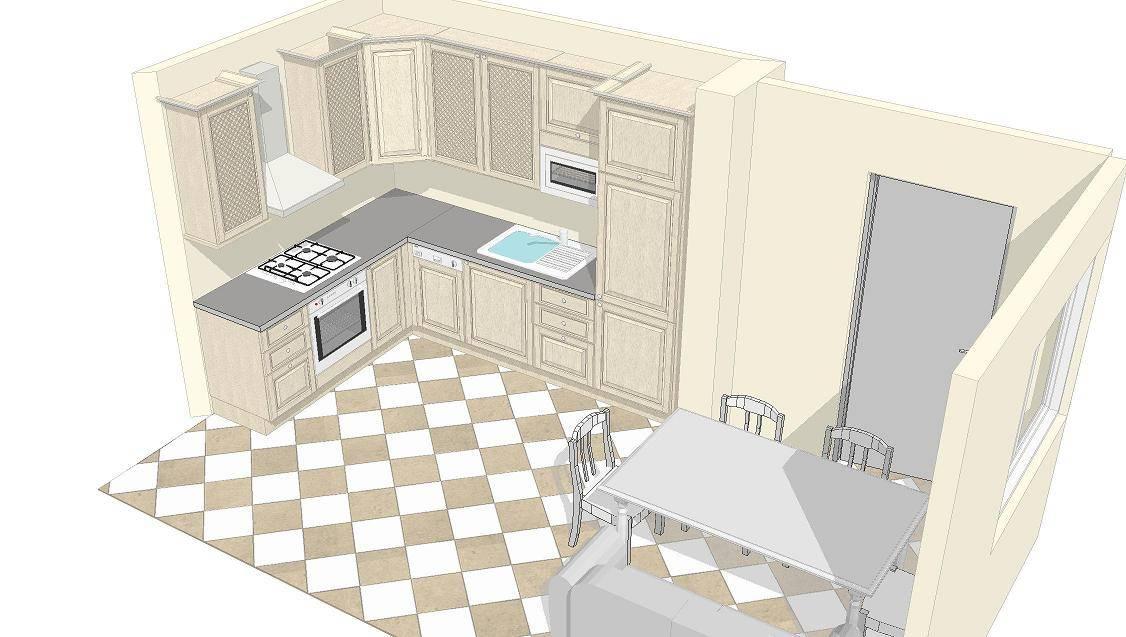 Эскиз кухни: как нарисовать проект кухни на компьютере или на бумаге