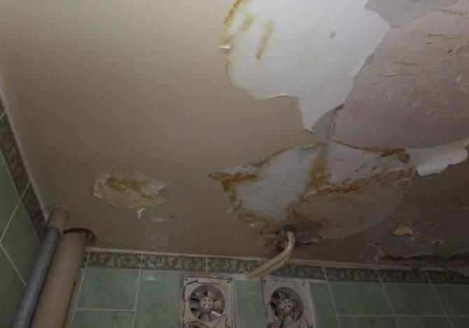 Как убрать желтые пятна на потолке после затопления: избавляемся от желтизны, конденсата после потопа