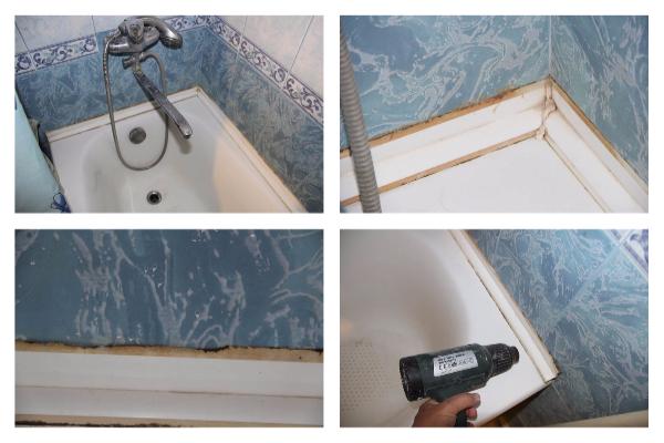 Бордюр для ванной – виды и особенности монтажа