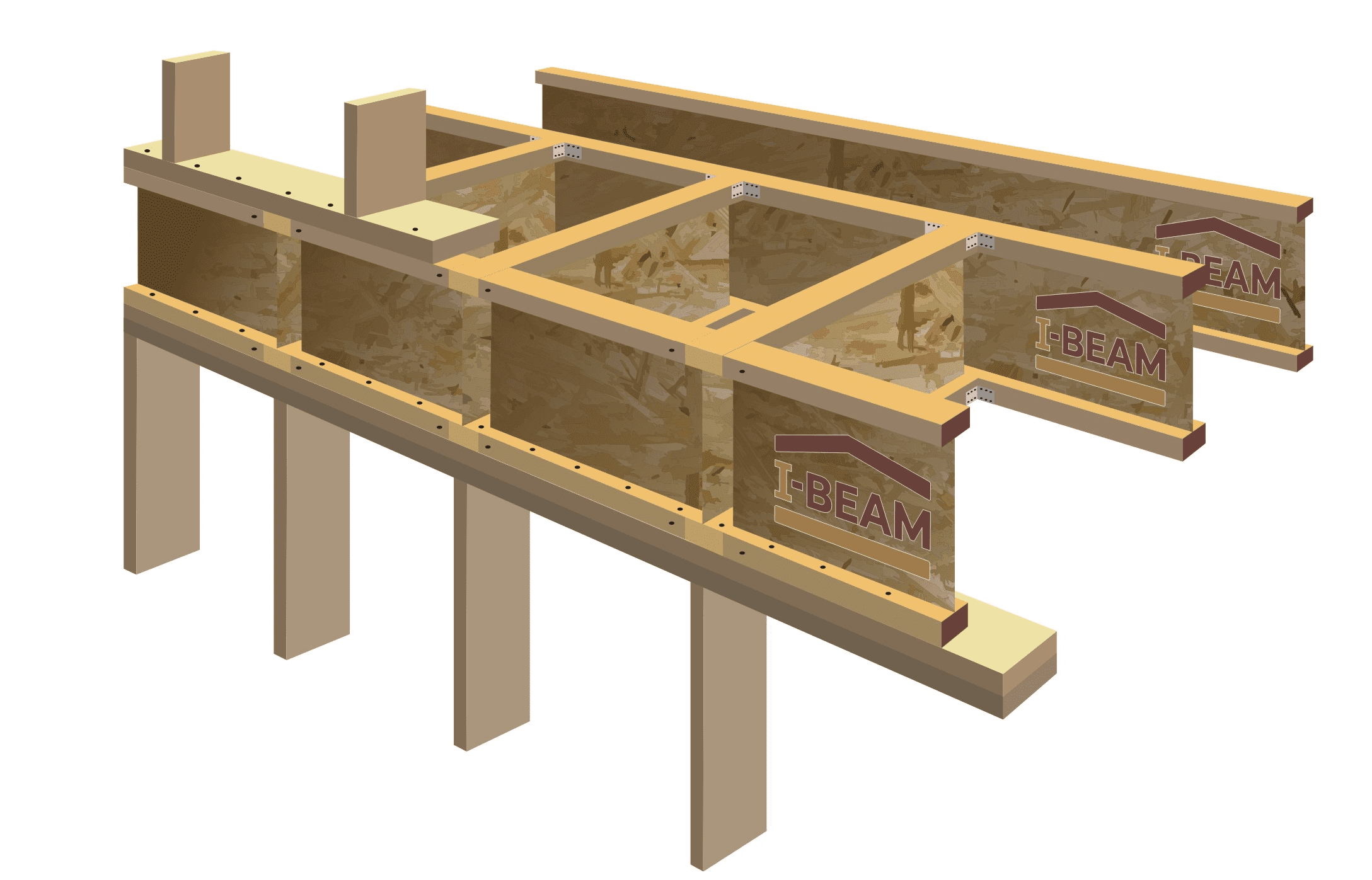 Двутавровая деревянная. как сделать деревянные двутавровые балки перекрытия своими руками — инструкция и чертежи