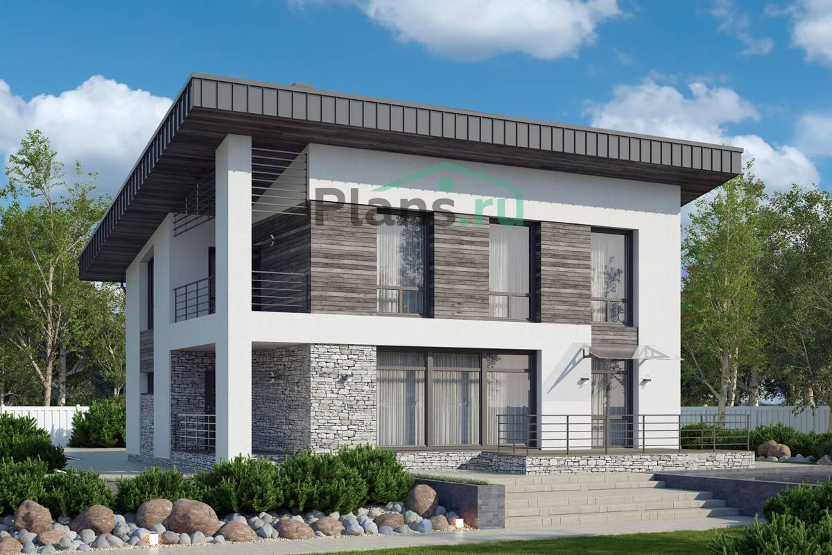 Проекты домов и коттеджей из газобетона (газоблоков): бесплатные, типовые с чертежами