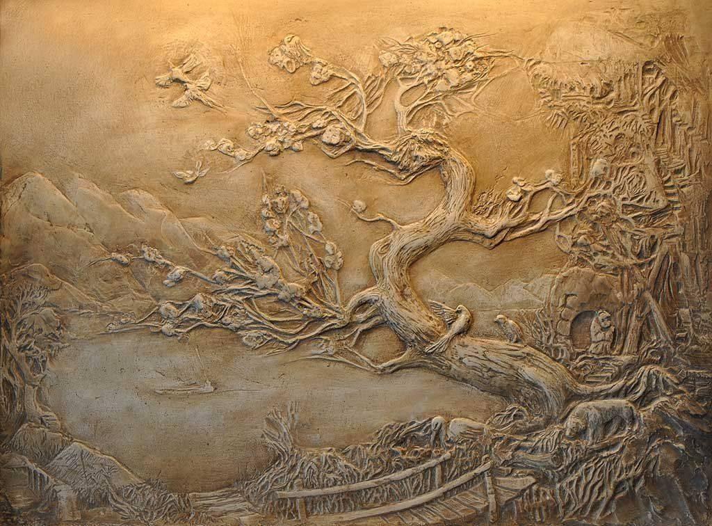 Барельеф на стене своими руками: пошаговая инструкция с фото