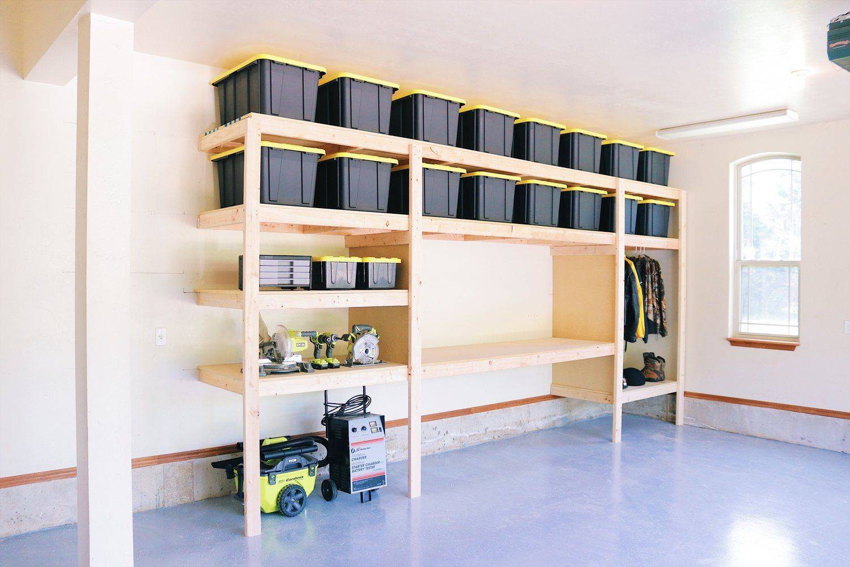 Как сделать полки и стеллажи в гараже
