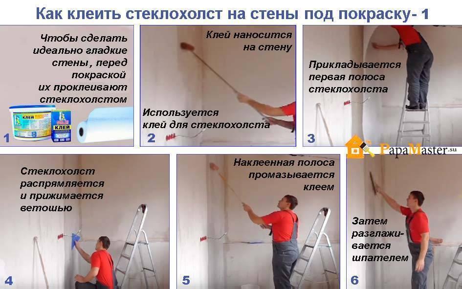 Оклейка потолка сеткой строби паутинка