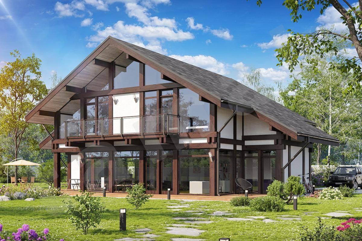 Дом в стиле «шале» (119 фото): проекты интерьера и строительство комбинированного загородного одноэтажного коттеджа
