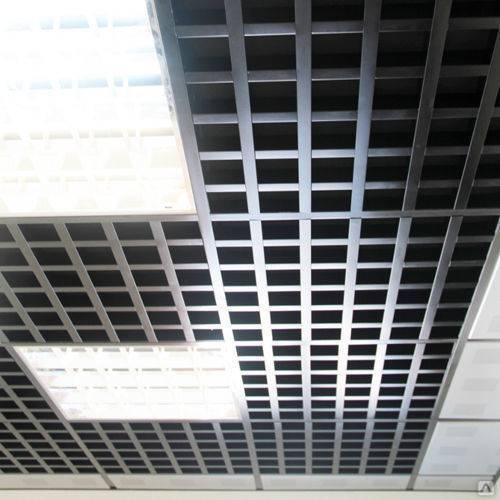 Решетчатый потолок: инструкция как сделать обрешетку для подвесных конструкций, видео и фото