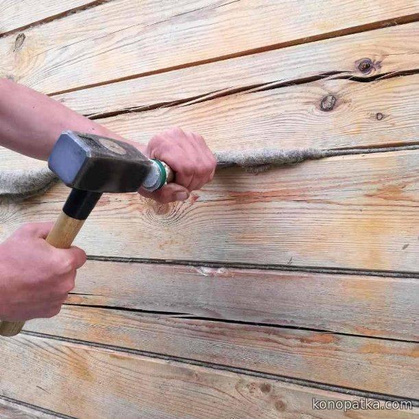 Как конопатить дом из бруса: видео. конопатка брусового дома: нюансы, этапы, рекомендации как правильно конопатить дом из бруса джутом