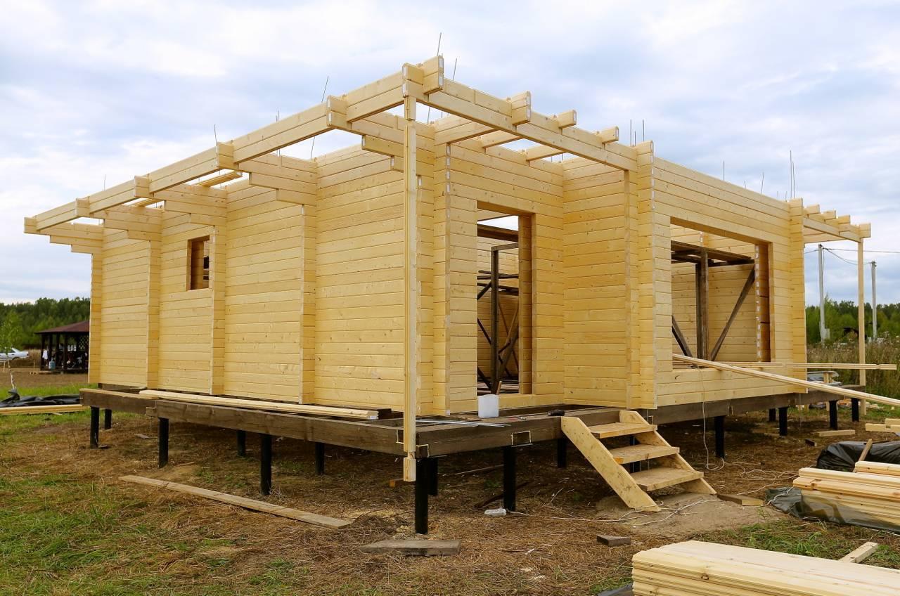 Дом из бруса своими руками: фото, видео строительства дом из бруса своими руками: фото, видео строительства