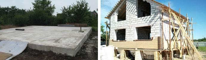 Фундамент для дома из газобетона: как построить