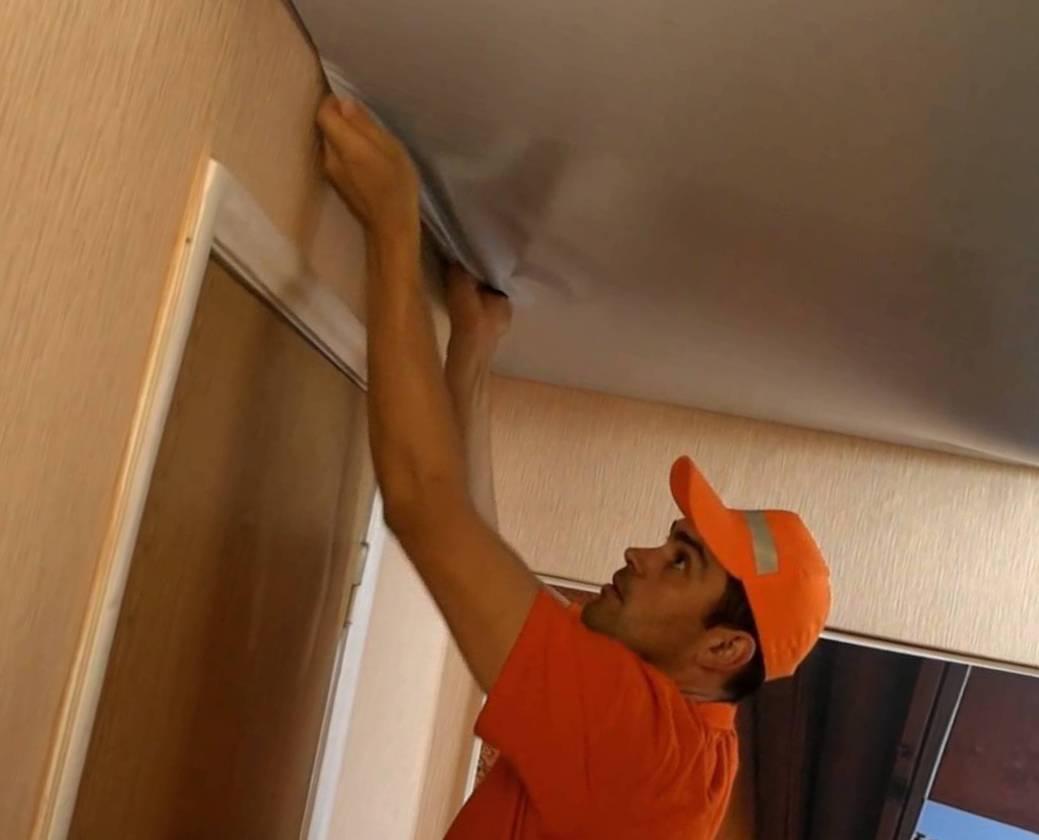 Как снять натяжной потолок своими руками: пошаговая инструкция