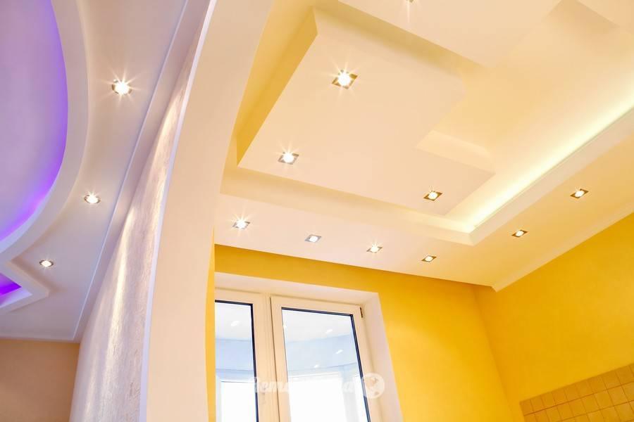 Типы подвесных потолков: фото, описание и характеристика видов, преимущества, недостатки и выбор светильников