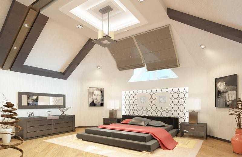 Дизайн мансардного этажа: спальни, детской, оформление потолка, стен