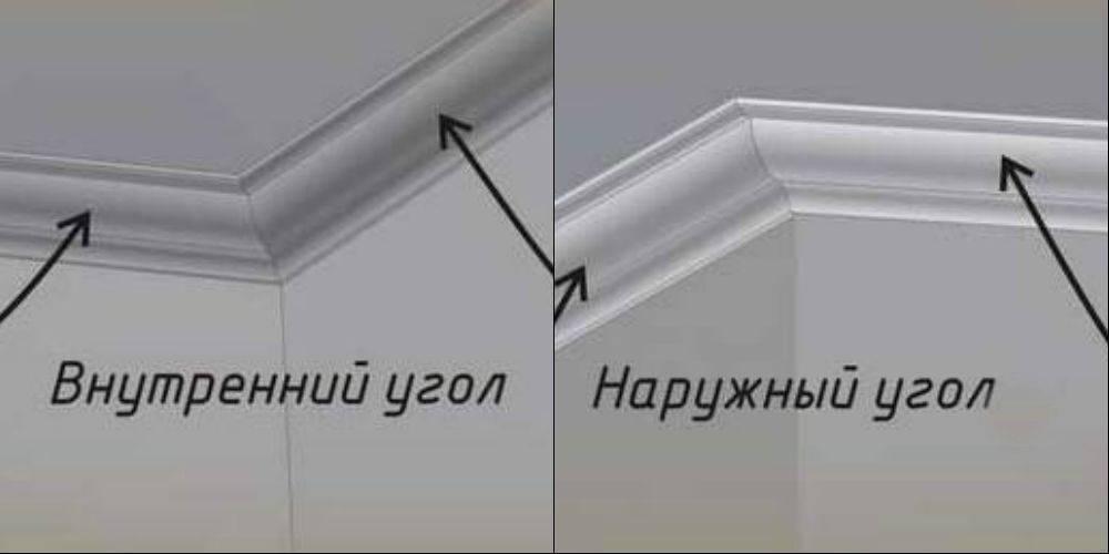 Как сделать внешний угол потолочного плинтуса? как вырезать наружный угол своими руками с помощью стусла и без него? как клеить внешний угол потолочного плинтуса?