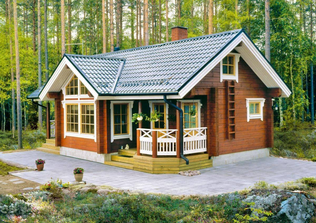 Отличительные особенности и проекты одноэтажных финских деревянных домов