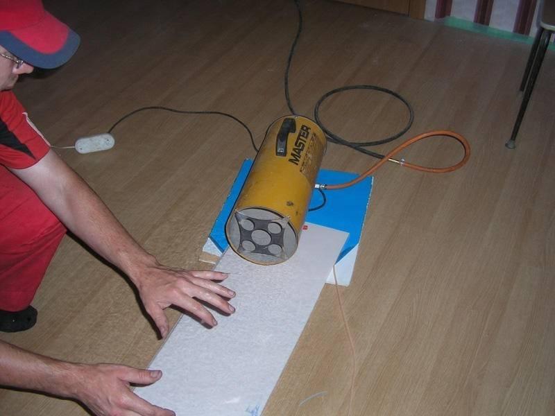 Тепловая пушка для натяжных потолков - обзор инструмента