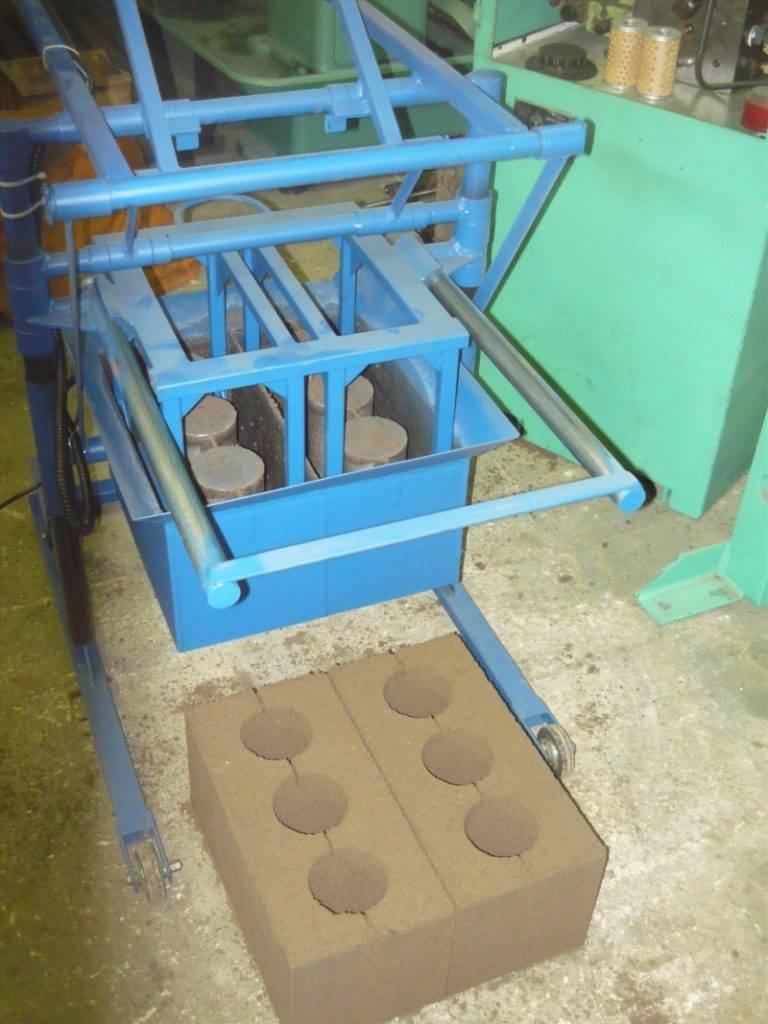 Станок для производства шлакоблоков своими руками