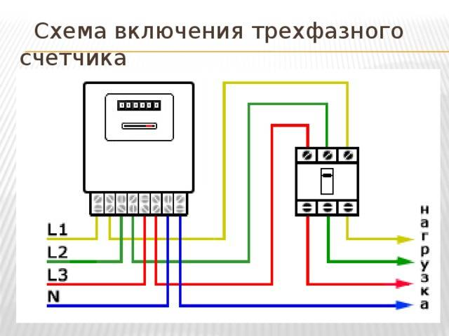 Установка трёхфазного счетчика
