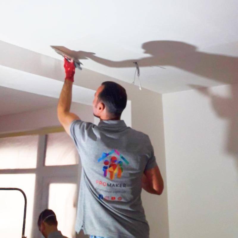 Правильная шпаклевка потолка своими руками под покраску и стоимость м2