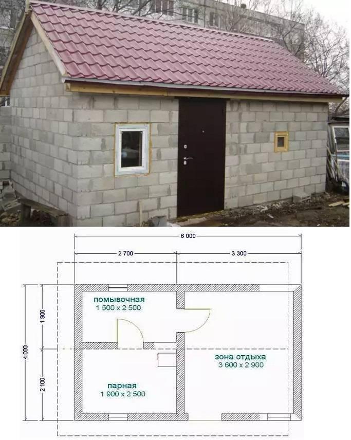 Дом для дачи из пеноблоков: видео-инструкция по монтажу своими руками, особенности строительства бани, проект, фото